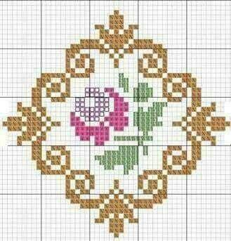 rose framed  mini pattern 01