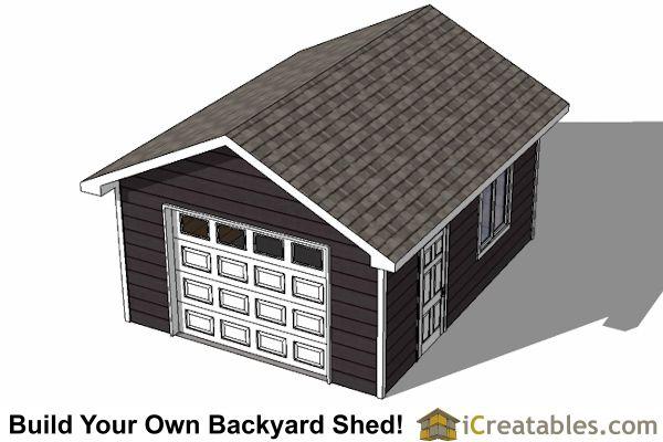16x24 Garage Ideas : Shed with garage door top view pinterest