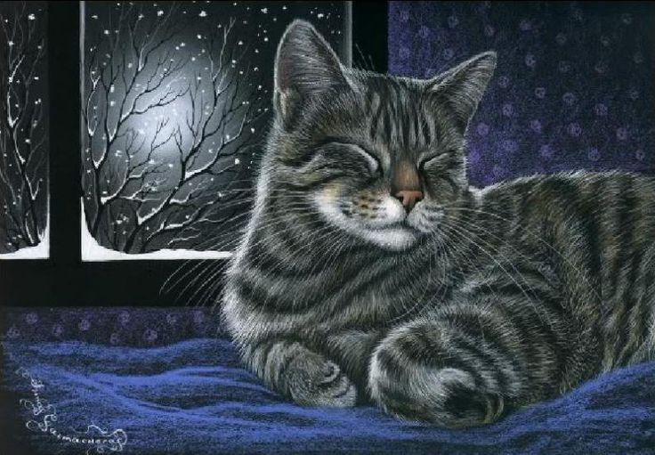 Cat in the window painting, by Irina Garmashova. ❤️Her Artwork!! So realistic...