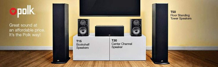 Polk Audio T50 Home Theater and Standing Tower Speaker BEST <a class=