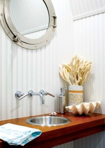 bathroom sink small bathroom super love the porthole mirror