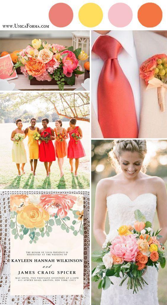 Top 8 bruiloft kleuren in het voorjaar van 2019 — koraal bruiloften ideeën, aquarel bruiloft i …
