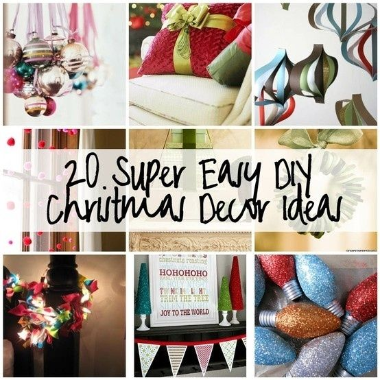 20 Super Easy DIY Christmas Decor Ideas by katie