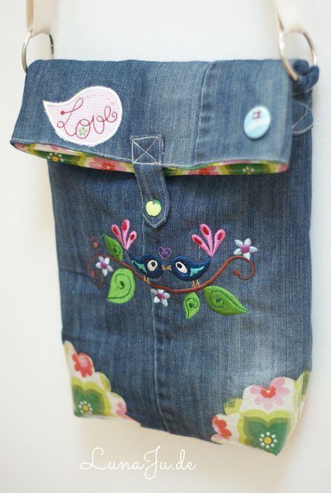 ** LunaJu **★: Tasche Marit - oder ich war mal eine Jeans ;)  Verschluss gefällt mir