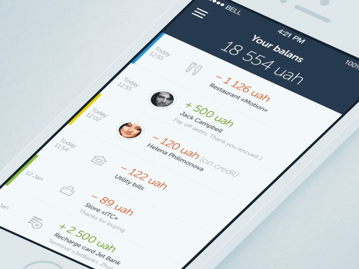 Jetbank – Online mobile banking by Dmitriy Chuta for Chapps. Love the side sliders. it's subtle but elegant.