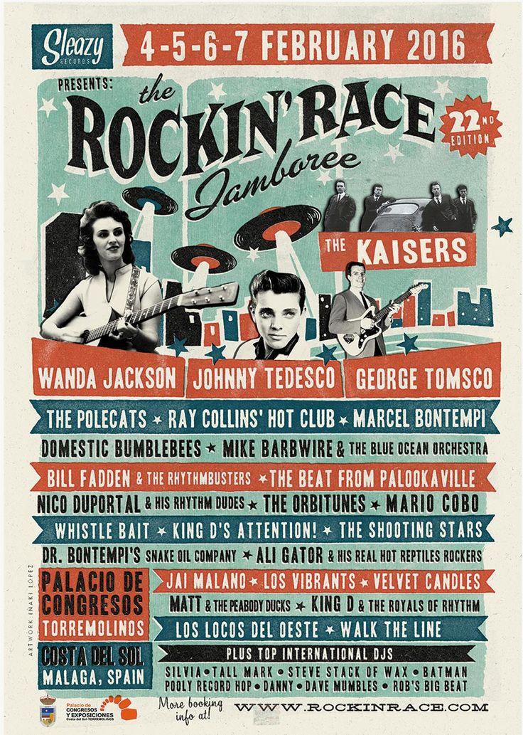 The 22nd Rockin' Race Jamboree 4-5-6-7 February 2016 Torremolinos. Spain.