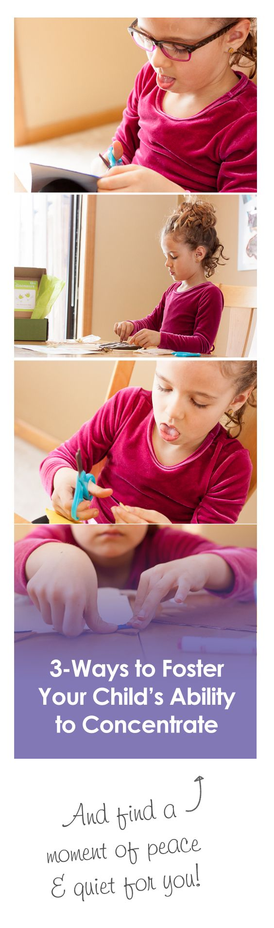{Foster Your Child's Ability to Concentrate} *And find some sanity in the day. Ha.