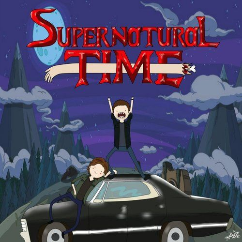 What time is it? Supernatural Time. I don't watch Adventure Time but this is still pretty funny.