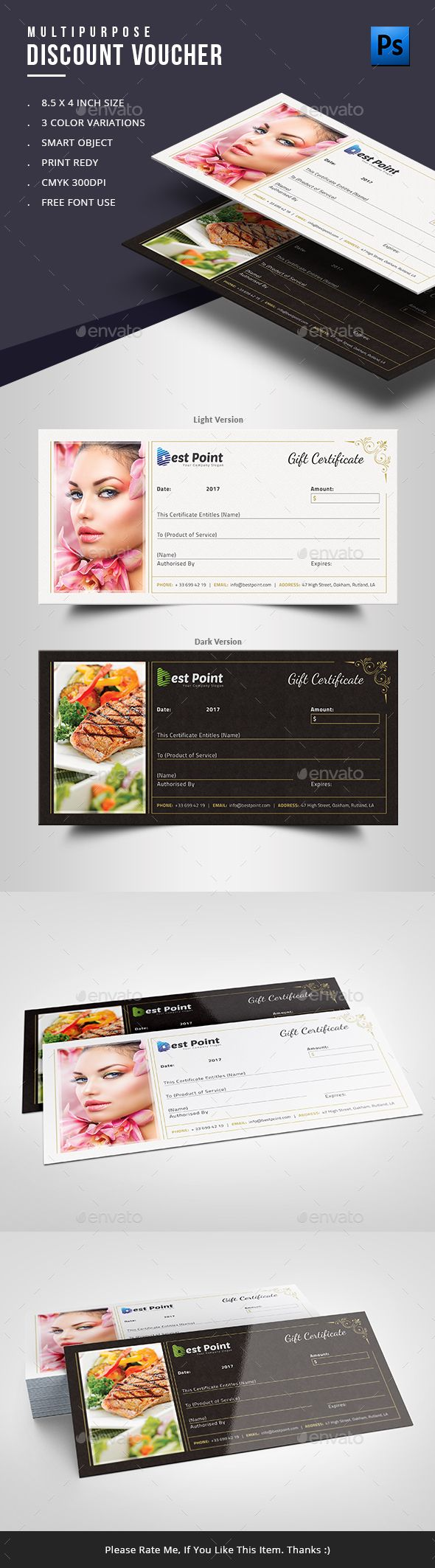 17 best images about discount voucher templates gift voucher template is fully editable and customizable in adobe photoshop you can add your