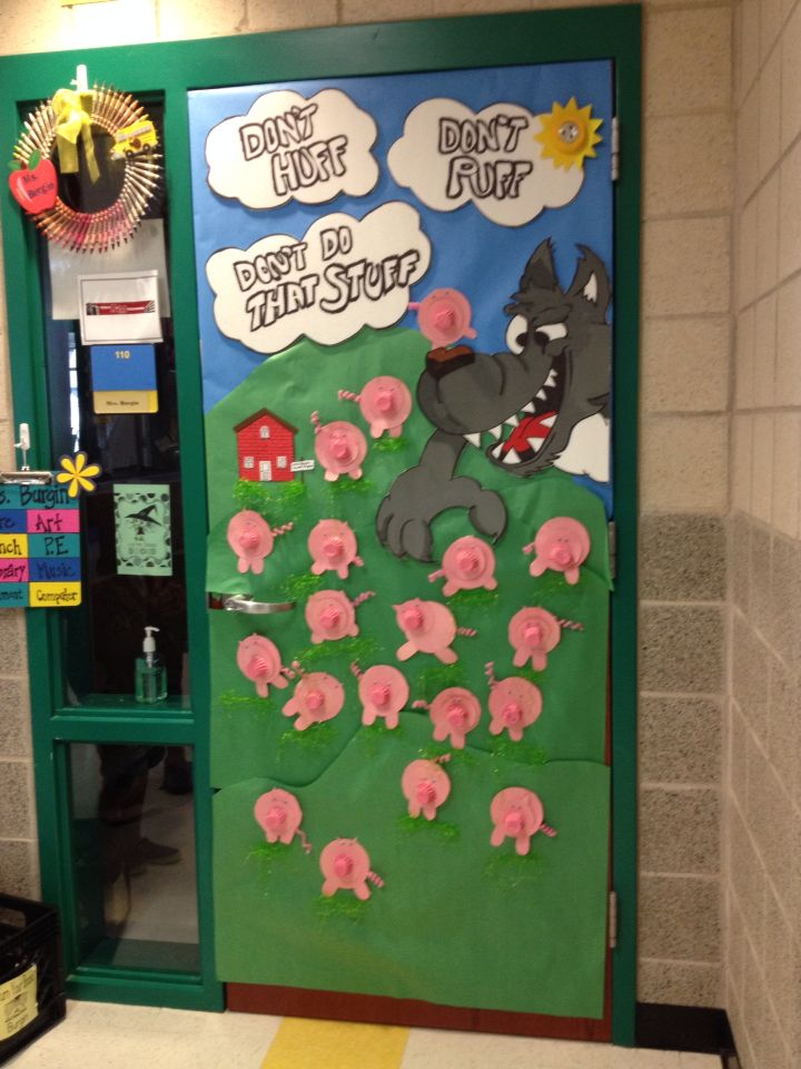 Don T Huff Don T Puff Don T Do That Stuff Drug Free Door