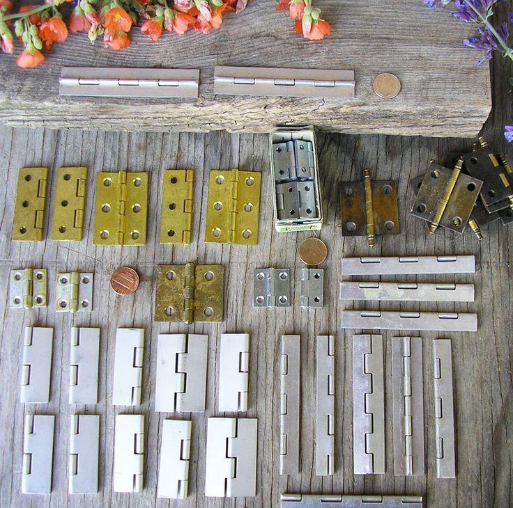 Mini Hinges, Gold Finish Small Hinge, Aluminum, Small Door Hinge, Miniature…