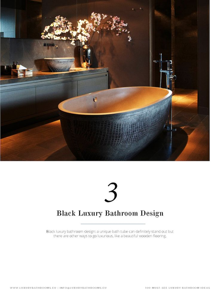 Get inspired by a range of styles that goes from hyper luxury to the contemporary style. The same for materials, from the finest gold to wood, from lacquer to metal… You name it! ➤To see more Luxury Bathroom ideas visit us at www.luxurybathrooms.eu #luxurybathrooms #homedecorideas #bathroomideas @BathroomsLuxury