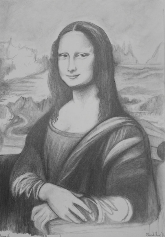 Contour Line Drawing Of Mona Lisa : Best images about the fabulous mona lisa on pinterest
