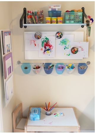 Toddler Friendly Art Stations