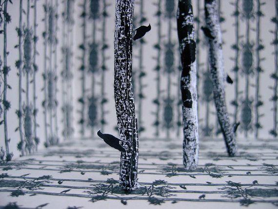 BLACK FRIDAY SALE  bird art print  black by SomethingFromNowhere, $35.00