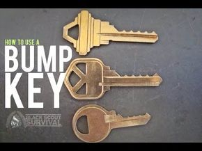 How to unlock a schlage lock with a bump key and how to make it - YouTube