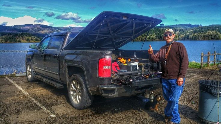 Its always nice to run into a proud UnderCover Tonneau Covers owner at the boat ramp.