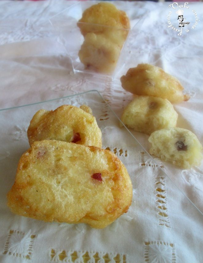 Frittelle di patate e pancetta