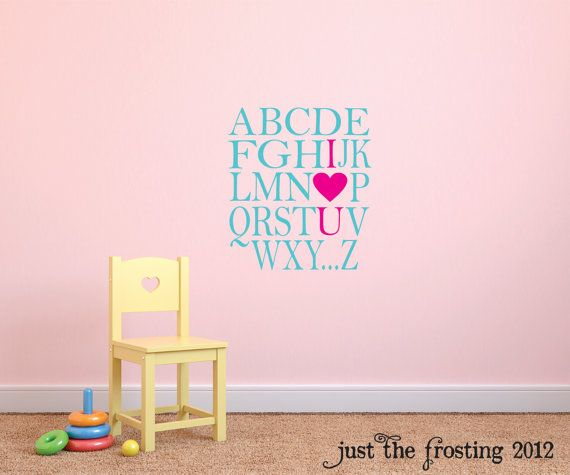The  Best Alphabet Wall Decals Ideas On Pinterest Love Wall - Vinyl wall decals alphabet