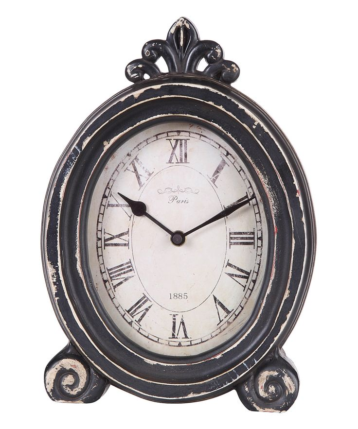 Distressed Gray Mantel Clock