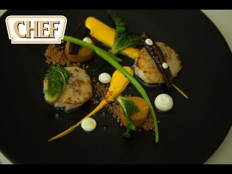 ▶ 2 Michelin star chef David Everitt-Matthias creates a recipe of hand dived scallops & carrots - YouTube