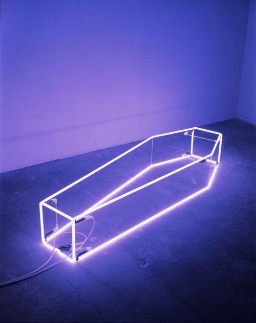 aesthetic, aesthetics, alternative, coffin, grunge, lights, neon lights, purple, tumblr