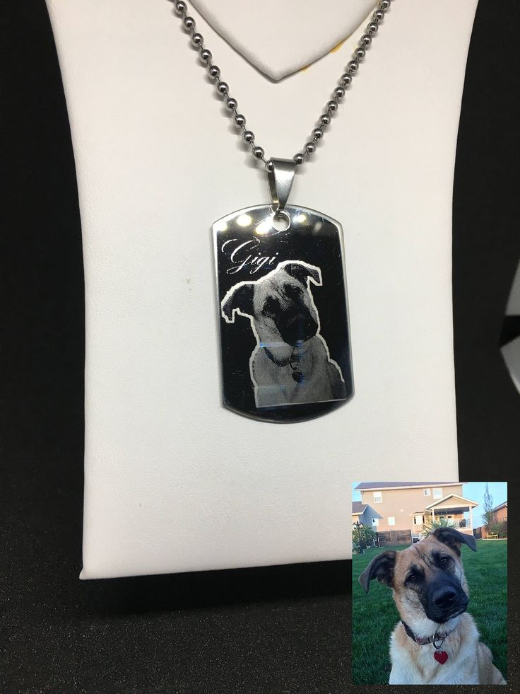 Personalized stainless steel photo engraved pendants by WalkerImpressions on Etsy https://www.etsy.com/ca/listing/552717083/personalized-stainless-steel-photo