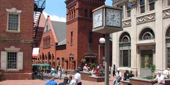 Lancaster, PA:  The Central Market, located just off Penn Square, dates back to the mid-1700's. Every Tuesday and Friday this market comes alive as farmers, bakers, and butchers sell their wares