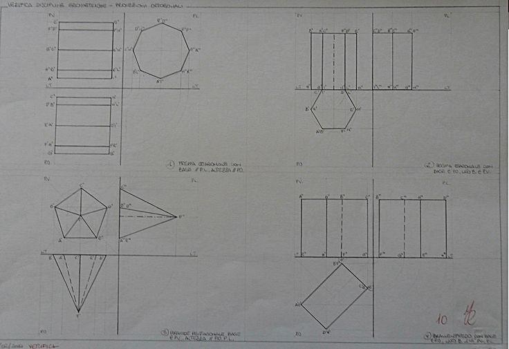 proiezioni di singoli solidi