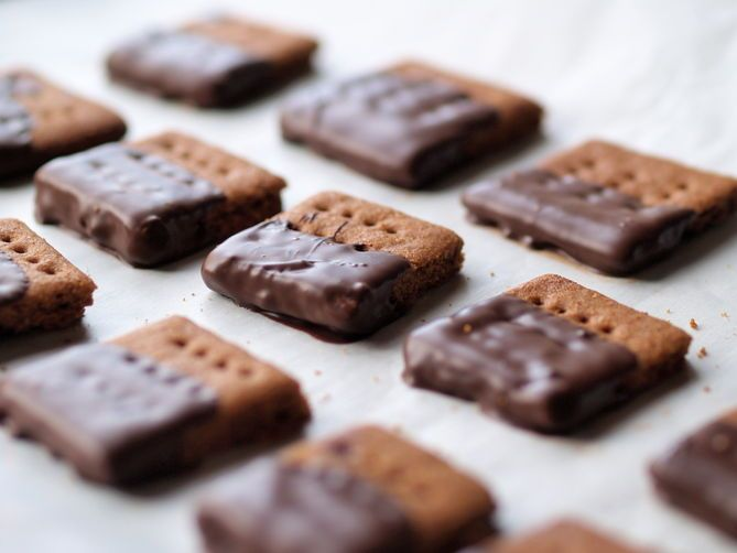Chocolate-Covered HomemadeGraham Crackers on Food52