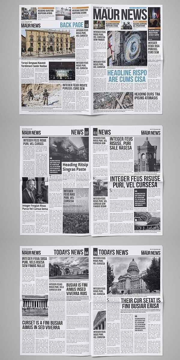 30 Professional Indesign Newspaper Templates Newspaper Template