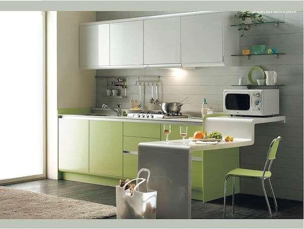 Kare Mutfak Dekorasyon Fikirleri Modern Mutfak Tasarimi Mutfak Ic Dekorasyonu Yeni Mutfak Modelleri