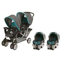 Graco DuoGlider Folding Double Baby Stroller w/ 2 Car Seats Travel Set | Dragonfly : 1853476 + 1853475 : VMInnovations.com