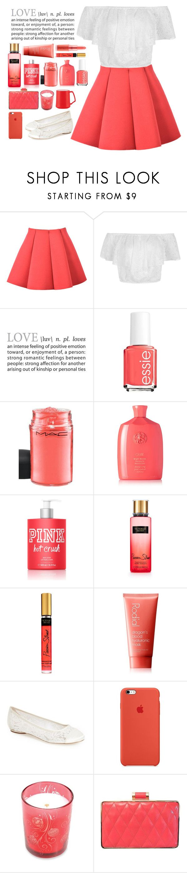 """""""Hot Love"""" by pumpkinpie432 ❤ liked on Polyvore featuring Essie, MAC Cosmetics, Oribe, Victoria's Secret, Rodial, Pink Paradox London, WoodWick, Sondra Roberts and Dansk"""