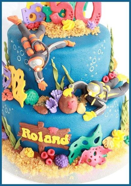 Scuba Divers!  Cake by dutchcakes