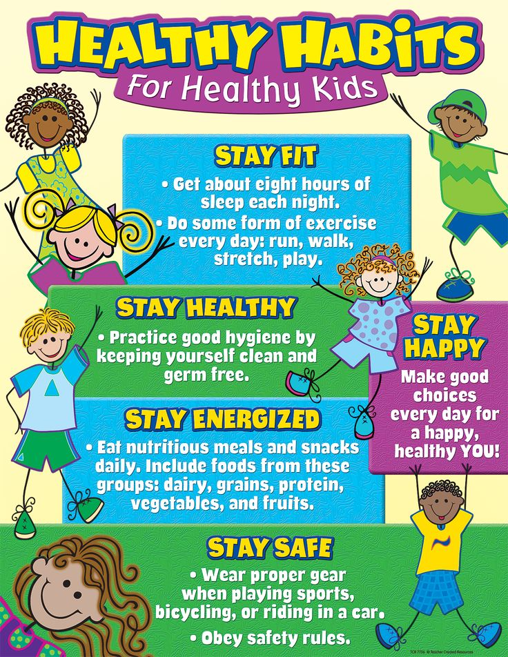 Healthy Habits for Healthy Kids Chart Healthy habits for