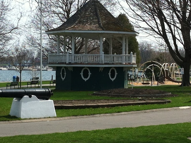 The Bandstand at Couchiching Beach Park, Orillia, Ontario.