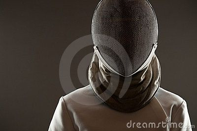 fencing sport portraits | Stock Images: Fencing mask . Studio portrait of fencing athlete ...