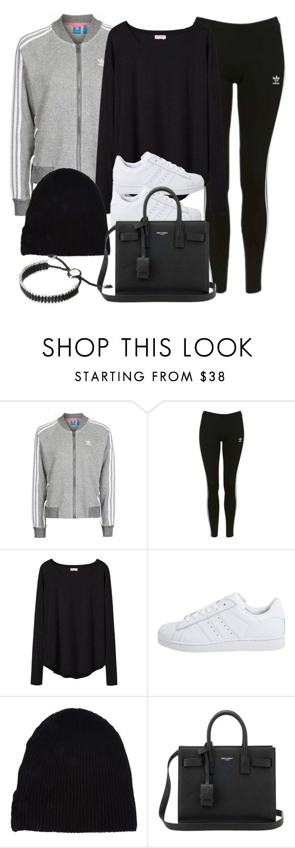 """Style #11618"" by vany-alvarado ❤ liked on Polyvore featuring Topshop, Organic by John Patrick, adidas Originals, Yves Saint Laurent and Links of London"