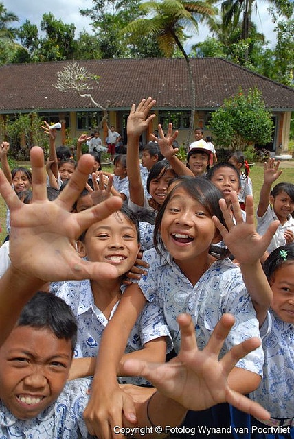 Happy Schoolkids -Bali, Indonesia