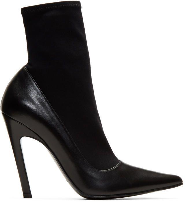 fe9d6efd2088 Balenciaga Black Sock Heeled Boots