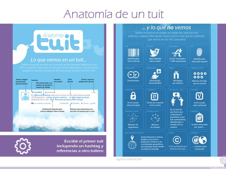 05 Más información: http://www.dgcomunicacion.com/blog/anatomia-de-un-tuit-lo-que-vemos-y-lo-que-no-vemos/340