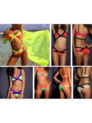 Donna Bikini Spiaggia Costume da bagno Mare 550012