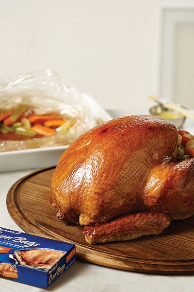 Bring your best Butterball turkey to the table this Thanksgiving! Use a Reynolds Kitchens Turkey Oven Bag for fast cooking, easy cleanup, and a bird that's tender and juicy. No scrubbing the pan when you're done means more time for family and friends!