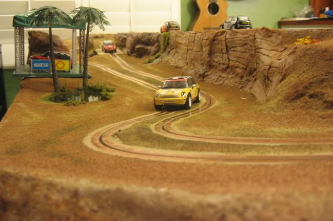 Page 5 of 17 - Show us your Rally / Raid layout - posted in Slot Rally & Raid: Or as a cheap conversion, a tin of white gloss paint which we used to good effect on the Aberstone rally stage. Cheers - Phil B.