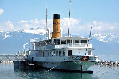 Imagens na Mala: Ouchy -  Lausanne - Lago de Genebra - Suiça