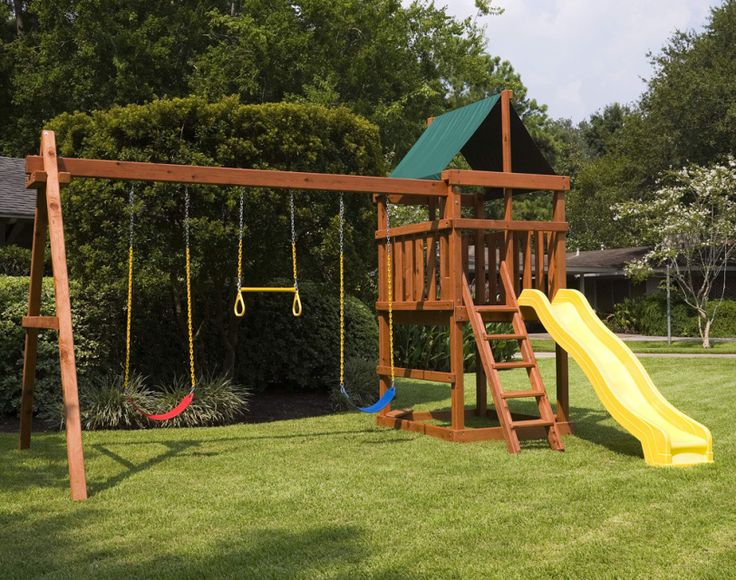 Learn how to build your own backyard wood playset with our