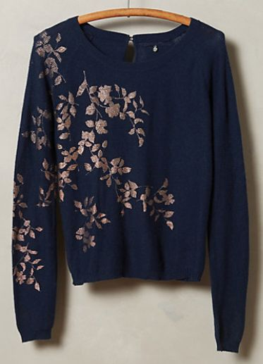 beautiful foil print sweater #anthrofave  http://rstyle.me/n/sjui6pdpe