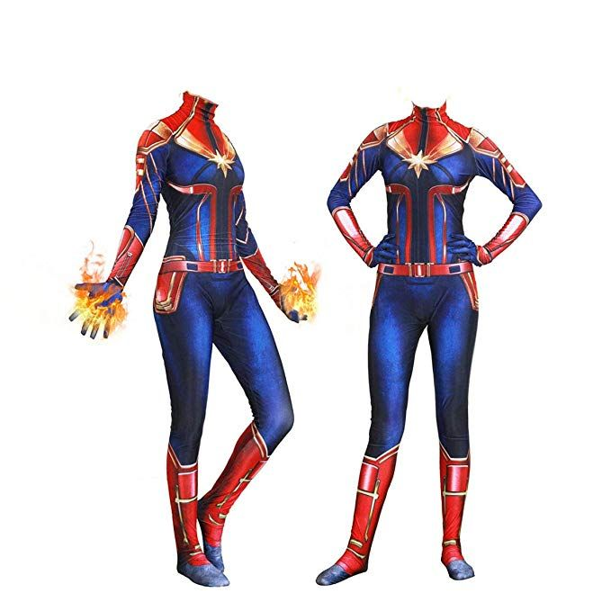 Amazon Com Yiranyijiu Captain Superhero Suit Halloween Cosplay Costume Carol Danvers Spandex Bo Toddler Superhero Costumes Marvel Costumes Superhero Halloween Disguise costumes marvel's avengers movie captain america deluxe gloves adult, red/blue, one size: pinterest