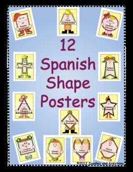 Spanish Shape Posters $5.00: Shapes Spanish, Adorable Shape, Math Lessons, Posters 5 00, Tpt Math, Spanish Shapes, Boys Spanish, Basic Shapes